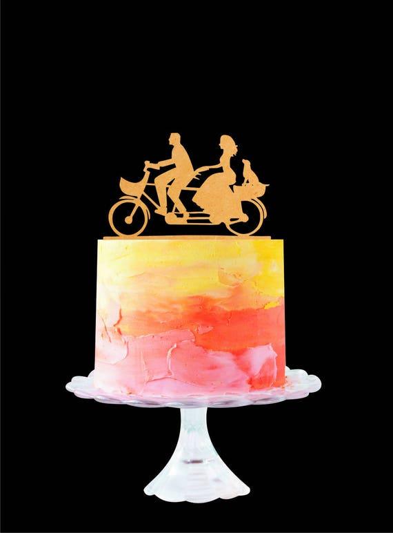 Fahrrad Hochzeitstorte Fahrrad Kuchen Deckel Etsy
