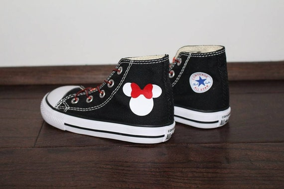 Minnie Mouse Converse High Tops   Etsy