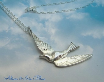 Sterling Silver  Flying Bird