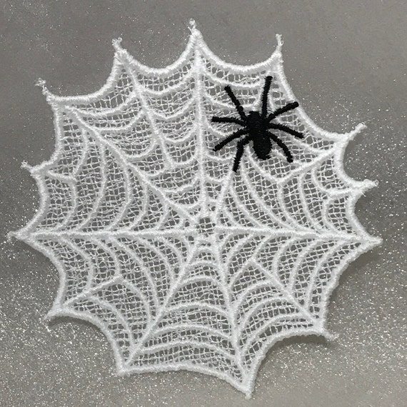 Lace Web Spider Free Standing Lace A Finished Embroidery Etsy