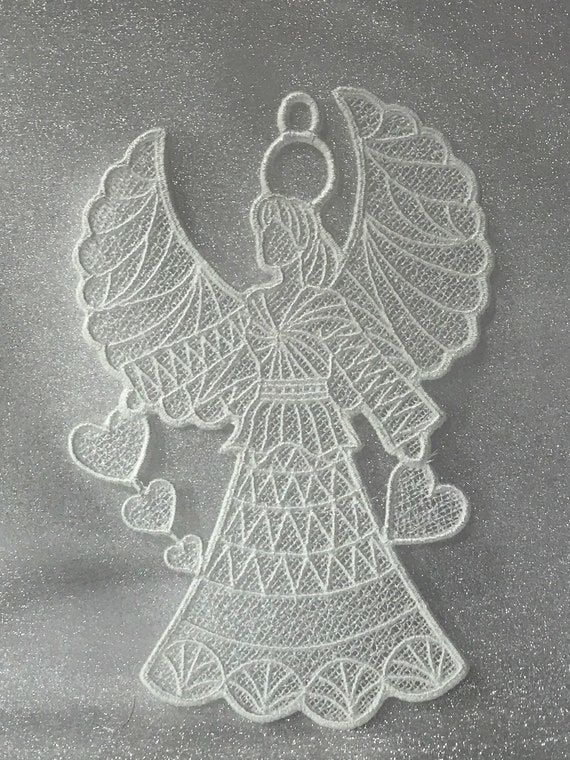Free Standing Lace - A Finished Embroidery product, not a design file or pattern Winter Egg