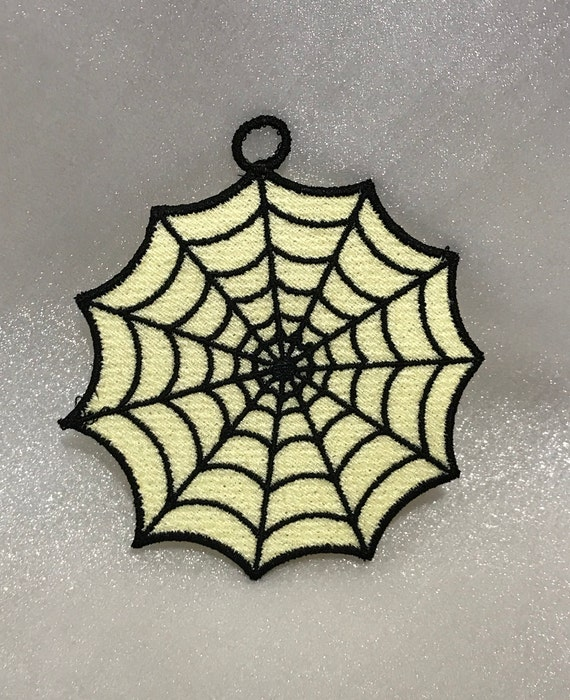 Spider Web Free Standing Lace A Finished Embroidery Etsy