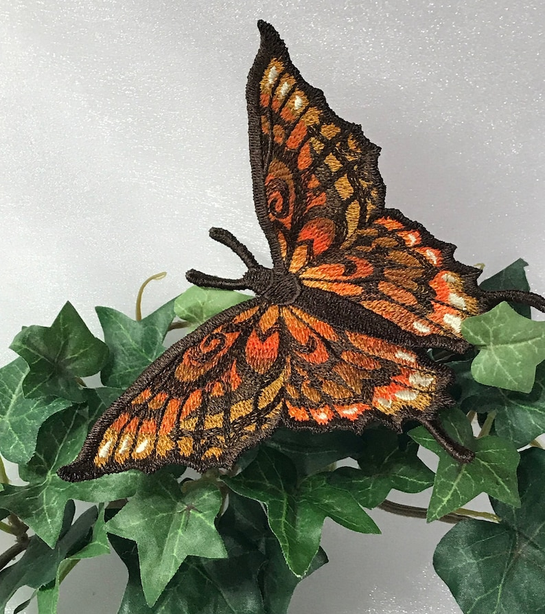 Free Standing - A Finished Embroidery product, not a design file or pattern Fall Beauty Butterfly