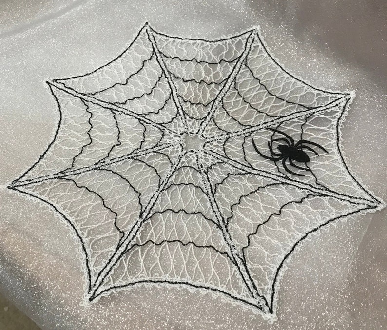 Spiderweb Doily Free Standing Lace A Finished Embroidery Etsy