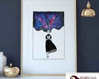 The space within the heart, A3 poster, signed, minipicture