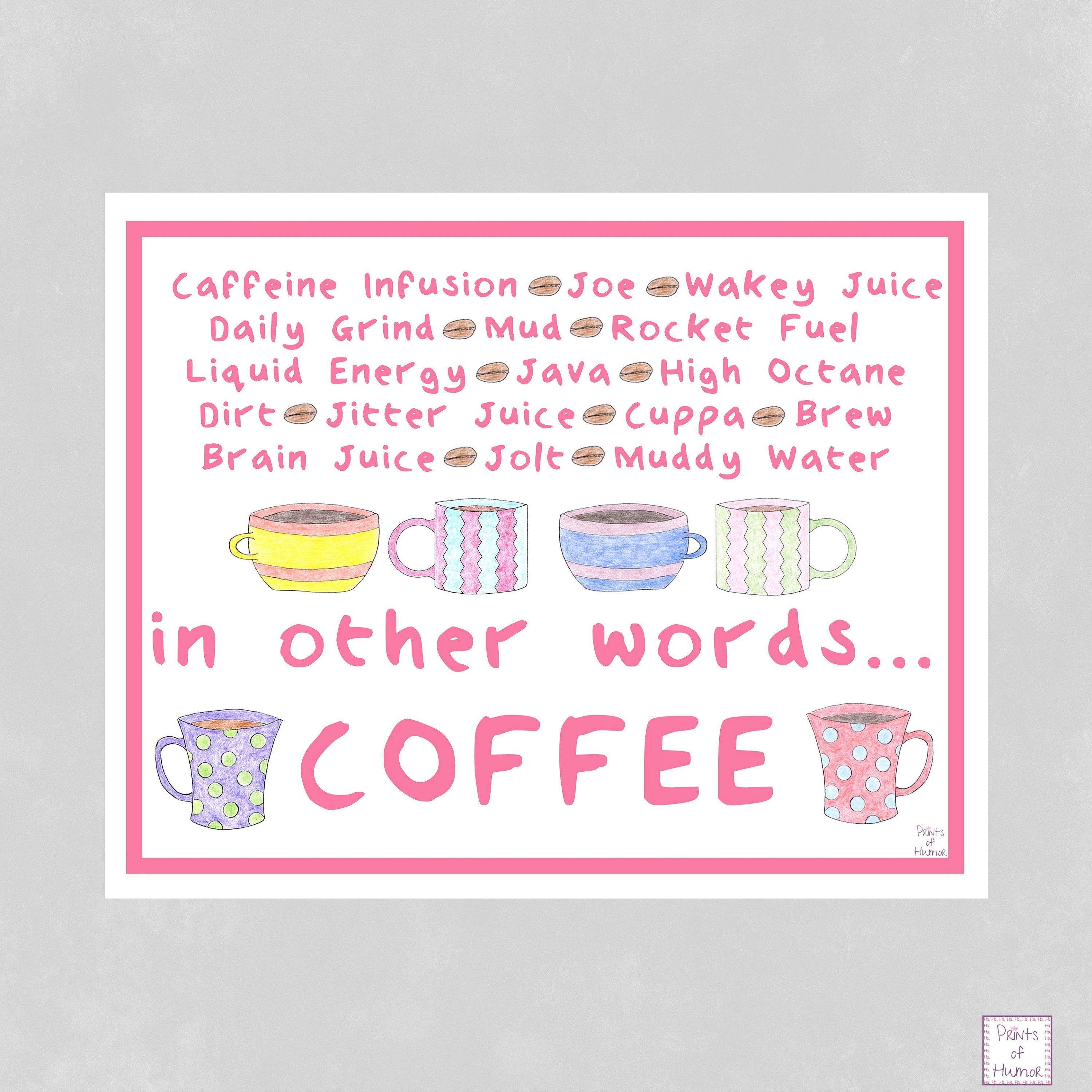 Great Examples For American Kitchen Lovers: Coffee Print Funny Kitchen Print Coffee Lover Gift Funny