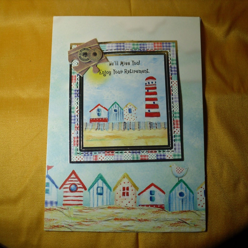 Greeting card Congratulations,Enjoy the Rest,Special Day,Special Person,Special Occasion Seaside Retirement Card Hobby Time,Handmade in UK