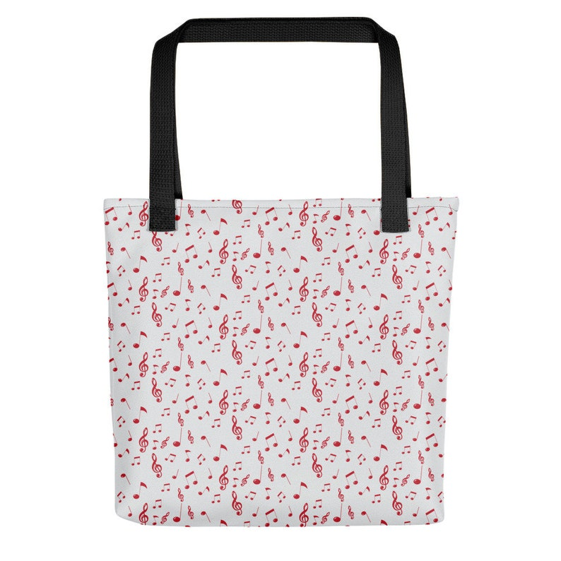 by Lauren Nicole Music Note Tote bag Music Bag Made in United States Music Tote Bag Tote Bag