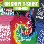 Cruise Shirts, Cruise Tank top, drinking cruise, Cruise Iron On, matching cruise, family cruise, Oh Ship, Ship faced, Cruise Iron Ons