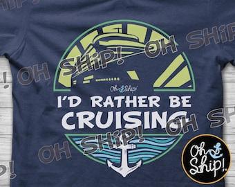 Cruise Shirts, Family Cruise Shirts, Oh Ship it's a Family trip, Cruise Tees, Cruise Iron On, Cruise Tanks, Oh Ship! I'd Rather Be Cruising