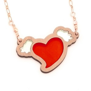 5 Year Anniversary Gift Wood Jewelry Love Necklace Laser Cut Sign Language Jewelry