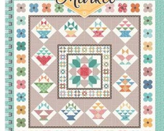 FLea Market Quilt Pattern Book by Lori Holt of Bee In My Bonnet for Riley Blake Designs