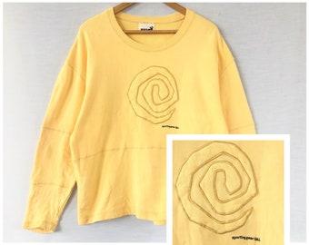 Issey Miyaki Marken Linie Hai Sportliche Ausrüstung Sweatshirt Großes Logo  Buchstabieren Bestickt Stil Marke Vintage Kleidung