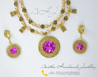 Pink Double layer Jewellery Set