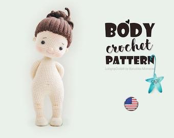 Crochet Doll Base Pattern English, AMIGURUMI pattern, crochet doll pattern, diy amigurumi