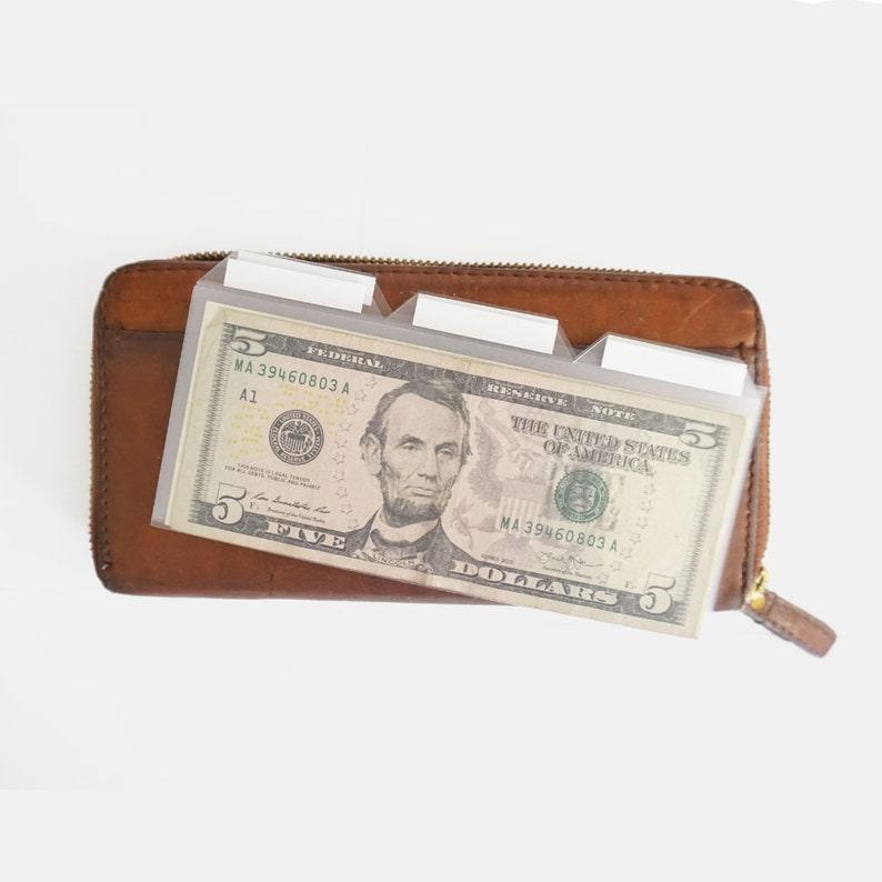 Clear Plastic Cash Dividers for Envelope System  Dave Ramsey image 0