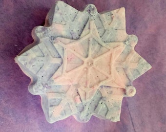 Snowflake Bath Bombs-Made with Coconut Oil-Variety of Colors and Fragrances-Sensitive Skin-Perfect for Kids-2oz