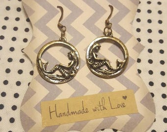 Mermaid & Anchor Earrings