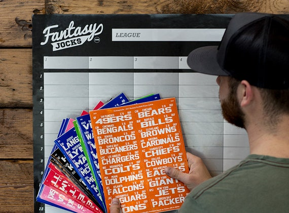 2019 Fantasy Football Draft Board Kit w Lombardi Trophy Loser Trophy and more!