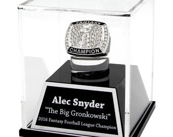 Engraved Championship Ring Display Case