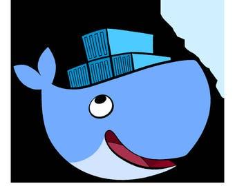Docker Whale Print