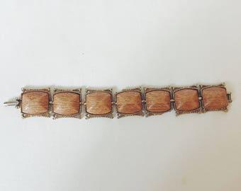 Wood & Metal Link Bracelet