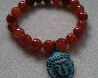 Buddha Agate Stone Bracelet