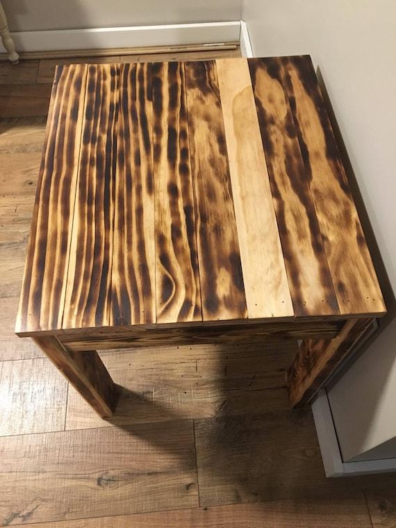 table en bois br l fait main table de ferme mobilier etsy. Black Bedroom Furniture Sets. Home Design Ideas
