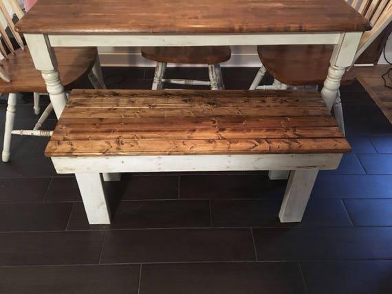 Handmade Reclaimed Wooden Farmhouse Bench Rustic Dining Etsy