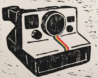 Polaroid Originals OneStep Lino Block Print