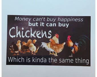 Chickens Happiness Room Sign House Hanging Money Hen Rooster Coop