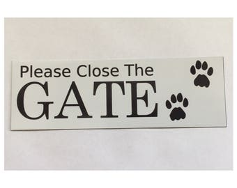 Please Close The Gate Closed Sign -  Closed Dog Paws Pets