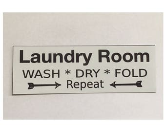 Laundry Room Door Sign - Shabby Chic Vintage