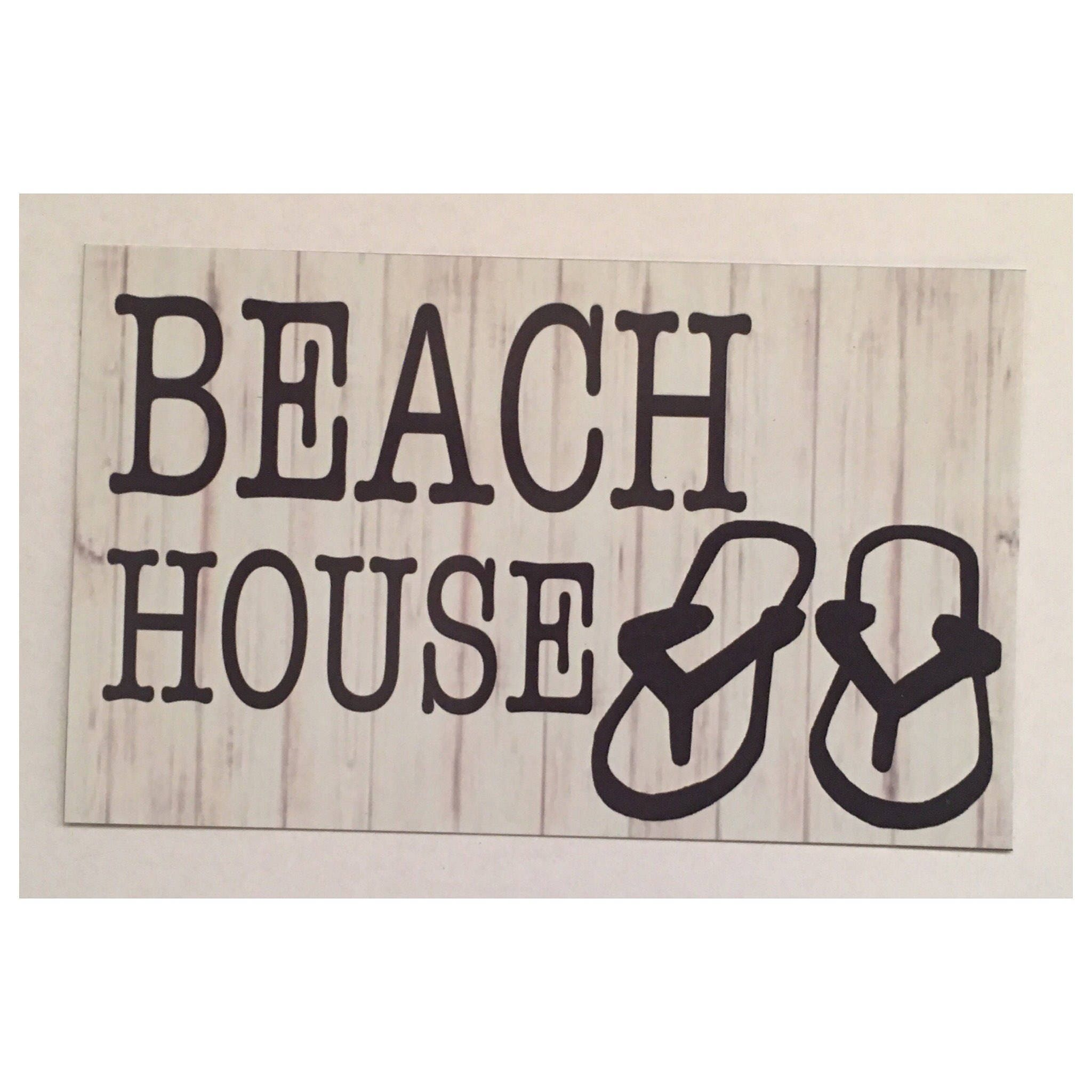 Welcome To Our Beach House Sign: Welcome To Our Beach House Sign Surfer Beach House Board