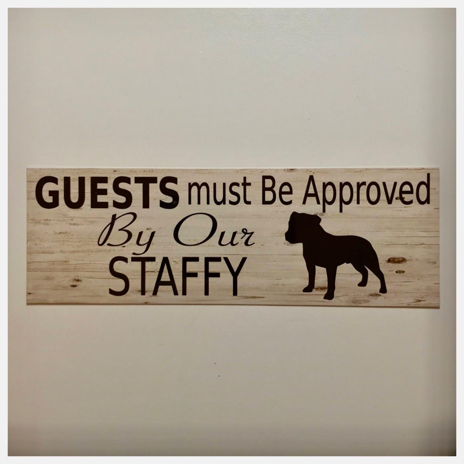 Staffy Sign