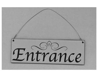 Entrance Sign - Front Door Wall Chic Business Reception Hanging