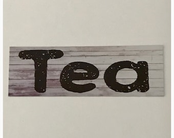 Tea Rustic Sign Hanging or Wall Plaque herbs