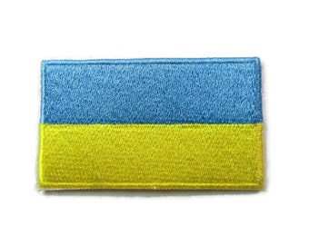 Ukrainian Table Flag Banner with Suction Cup 8 Inches x 5.5 Inches