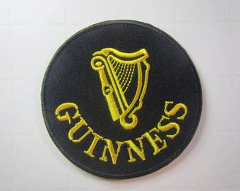 Guinness Logo – Stout  – Beer  - Guinness Beer– Guinness Harp -  Iron on Patch