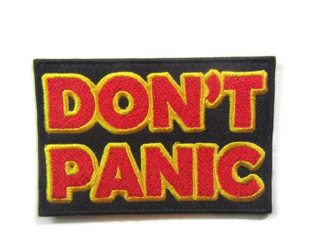 19a238dc5 Don't Panic - Hitchhiker's Guide to the Galaxy