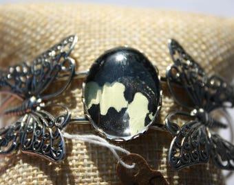 Citrus Swallowtail Butterfly Bangle Bracelet 061