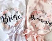 Bridal Robe Bridesmaid Robes Personalized Robe Bridal Party Robes Bridesmaid Gifts Satin Robe Bride Robe Getting Ready Robe
