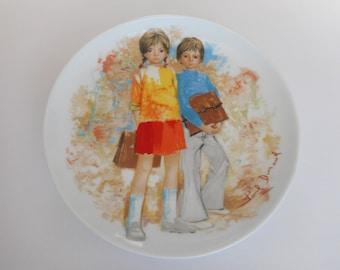 Vintage Limoges Emilie and Philippe Collectible Decorative Plate Porcelain Paul Durand