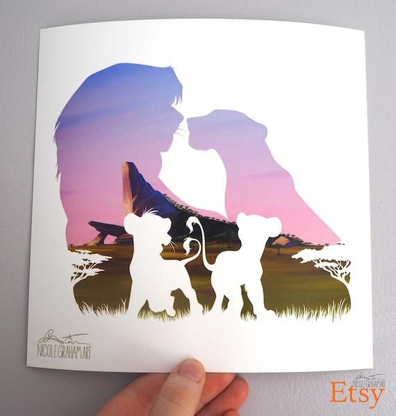 The Lion King Disney Silhouette Art Prints Etsy
