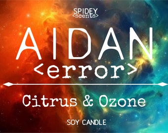 AIDAN (Illuminae Files inspired) Soy Candle