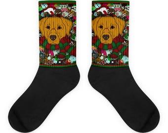 Golden Retriever Socks Etsy
