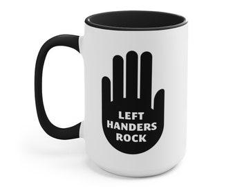 Left Handers Rock Accent Mug Hand