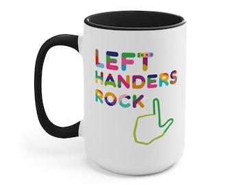 Left Handed Accent Mug Pointed Finger