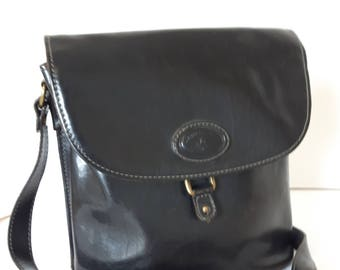 76f718e224 Vintage Italian Black Leather Purse