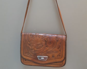 Textured Unisex Messenger Bag Orange Brown Silver Coloured Hardware Handmade Leather Satchel Detachable Shoulder Strap Handle Strap